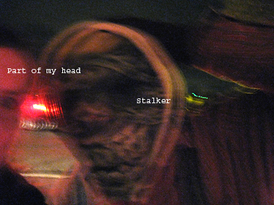 Self Portrait with Scary Stalker