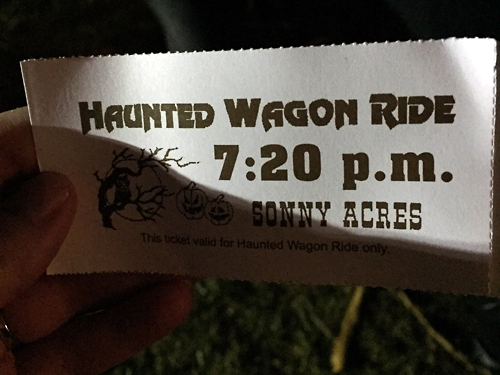 Haunted Wagon Ride Ticket