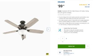 Hunter Fan (Lowes)