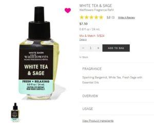 B&BW White Tea & Sage