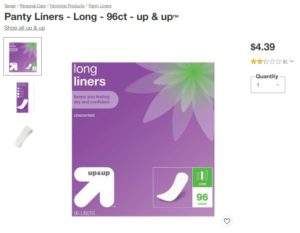Target Panty Liners