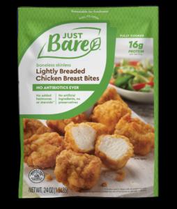 Just Bare Lighting Breaded Chicken Breast Bites